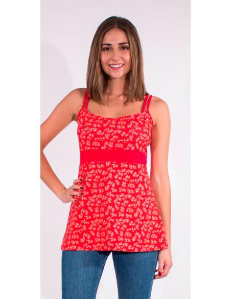 1 Camiseta 97% algodon 3% elastano tirantes estampado eclat