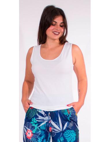 1 Camiseta 95% algodon 5% elastano sin mangas lisa