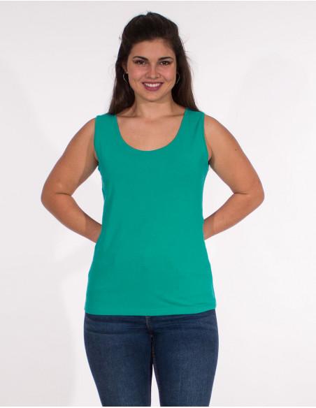 4 Camiseta 95% algodon 5% elastano sin mangas lisa