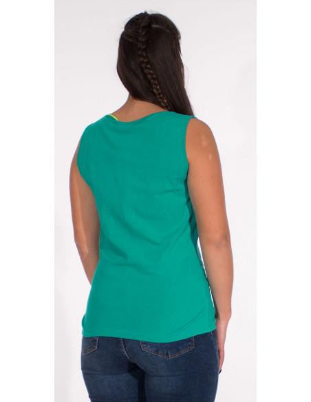 5 Camiseta 95% algodon 5% elastano sin mangas lisa
