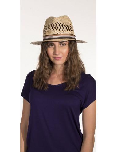 1 Sombrero paja beis panama ajoure